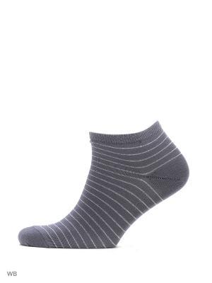 Носки укороченные из гребенного хлопка (3 пары) HOSIERY. Цвет: темно-серый