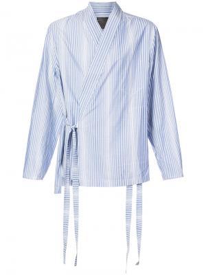 Полосатая куртка-рубашка в стиле кимоно Siki Im. Цвет: синий