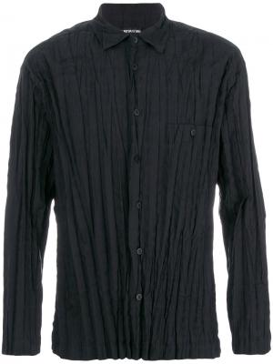 Плиссированная рубашка Issey Miyake. Цвет: чёрный