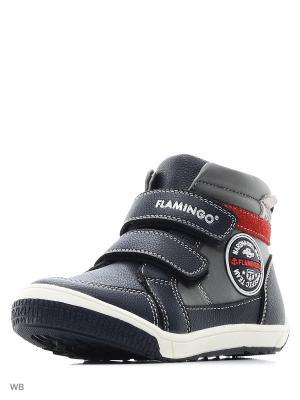 Ботинки Flamingo. Цвет: синий, красный, серый