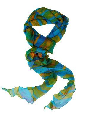 Платок Passigatti. Цвет: зеленый, голубой