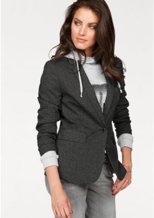 Жакет Aniston. Цвет: темно-серый/серый