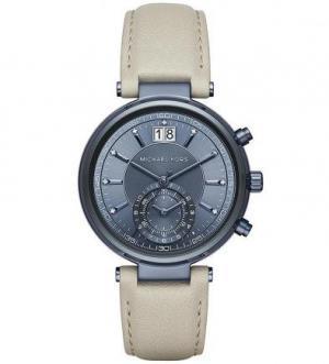 Часы с кожаным браслетом и хронографом Michael Kors