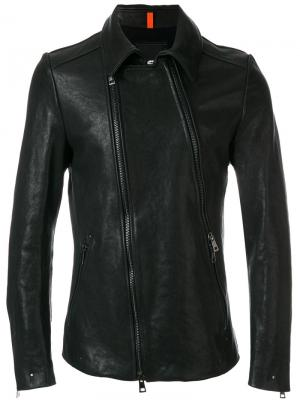 Куртка со смещенной застежкой-молнией Tom Rebl. Цвет: чёрный
