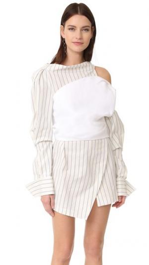 Платье Harlequin Jacquemus. Цвет: белый/бежево- синяя полоска