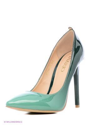 Туфли INARIO. Цвет: зеленый