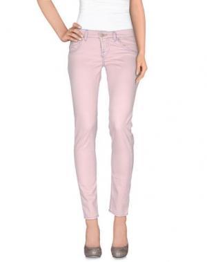 Повседневные брюки MAISON CLOCHARD. Цвет: розовый