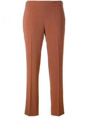 Укороченные брюки Alberto Biani. Цвет: коричневый