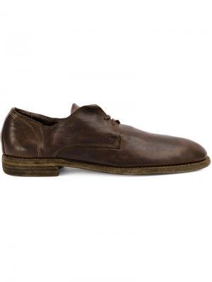 Туфли-дерби Guidi. Цвет: коричневый
