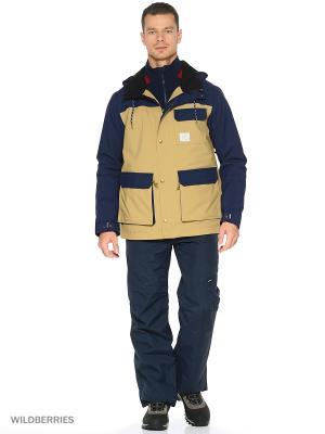 Куртка O'Neill. Цвет: коричневый, синий