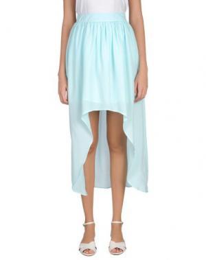 Длинная юбка DUCK FARM. Цвет: небесно-голубой