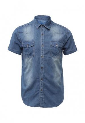 Рубашка джинсовая Nord Star. Цвет: синий