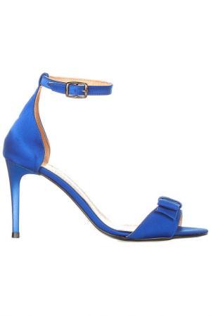 Босоножки на каблуке EVA LOPEZ. Цвет: синий