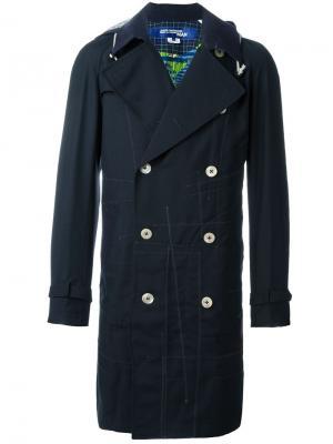Пальто с декоративным швом Junya Watanabe Comme Des Garçons Man. Цвет: синий