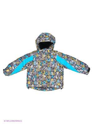 Куртка для мальчика Cherubino. Цвет: серый, голубой