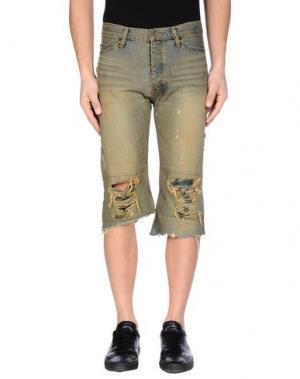 Джинсовые брюки-капри IF SIX WAS NINE. Цвет: синий