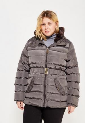 Куртка утепленная Emoi Size Plus. Цвет: серый
