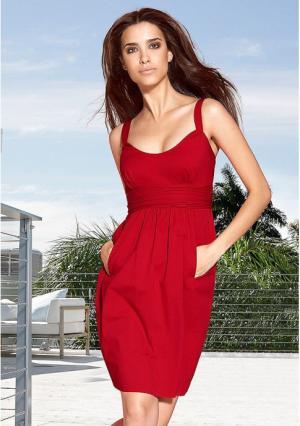 Платье Maria Bellesi. Цвет: красный