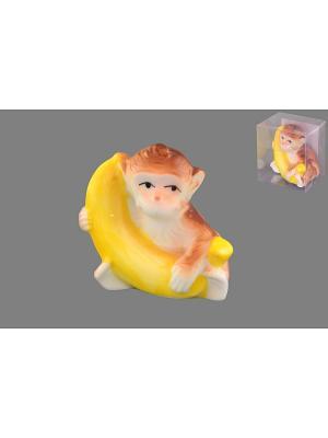 Фигурка  Обезьянка с бананом Elan Gallery. Цвет: светло-коричневый, желтый
