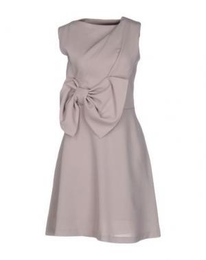 Короткое платье TROU AUX BICHES. Цвет: голубиный серый