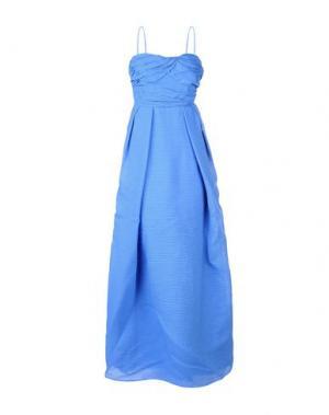 Длинное платье CARVEN. Цвет: синий