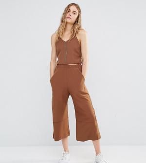 House of Sunny Комбинируемые укороченные брюки с широкими штанинами. Цвет: коричневый