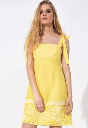 Сарафан LO. Цвет: желтый
