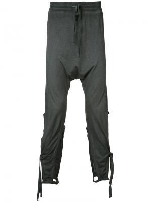 Спортивные брюки с завязками Barbara I Gongini. Цвет: серый