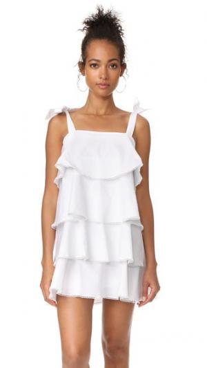 Многоуровневое мини-платье Madelyn WAYF. Цвет: золотой