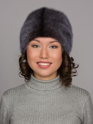 Шапка Slava Furs. Цвет: темно-синий