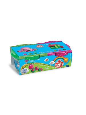 DIDO Glitter, паста для лепки, 2*100 пурпурный, зеленый (глиттер) FILA. Цвет: синий, зеленый, розовый