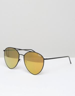 Quay Australia Солнцезащитные очки x Jasmine Indio. Цвет: золотой