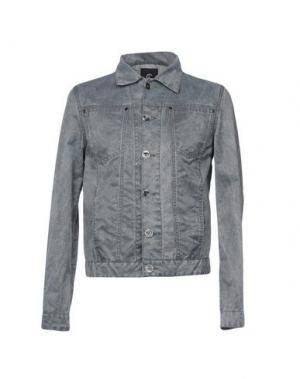 Джинсовая верхняя одежда CALVARESI. Цвет: серый