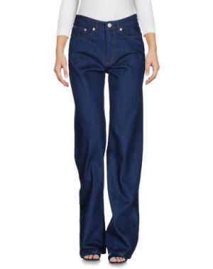 Джинсовые брюки WOOD. Цвет: синий