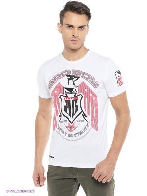 Футболка Eagle MMA Bad boy. Цвет: белый