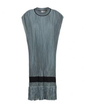 Короткое платье EDUN. Цвет: небесно-голубой