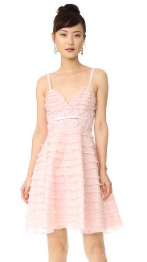 Расклешенное платье без рукавов Giambattista Valli. Цвет: розовый