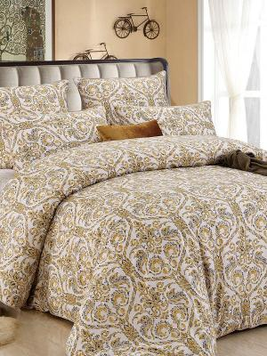 Комплект постельного белья, Золотой Вавилон, 1.5 спальный KAZANOV.A.. Цвет: бежевый, золотистый