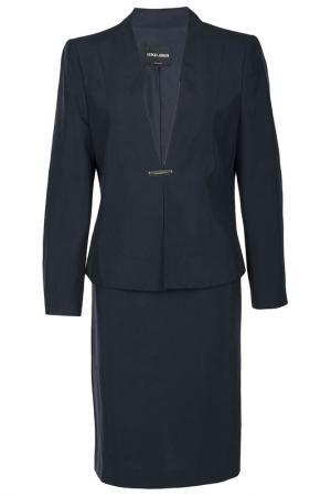 Костюм: жакет и юбка Giorgio Armani. Цвет: синий