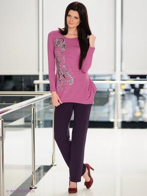 Брюки T&M. Цвет: темно-фиолетовый