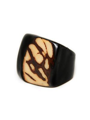 Перуанское кольцо из пальмы тагуа Indira. Цвет: антрацитовый, темно-коричневый, темно-бежевый