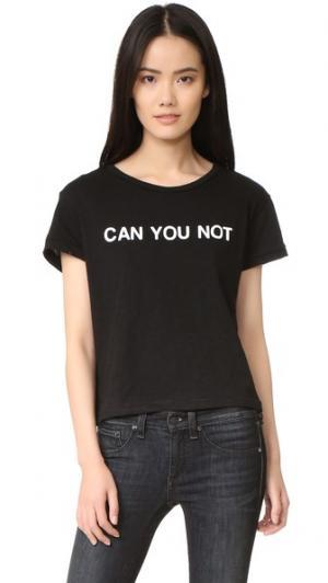 Футболка с надписью «Can You Not» Private Party. Цвет: голубой
