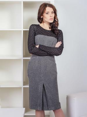 Платье Marlen. Цвет: серый, черный