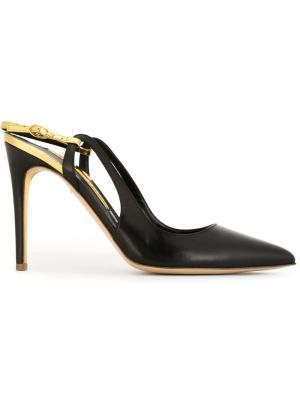 Туфли-лодочки с металлической отделкой Rupert Sanderson. Цвет: чёрный