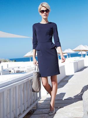 Платье Elegance. Цвет: темно-синий