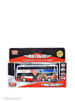 Автобус Технопарк. Цвет: красный, белый, синий
