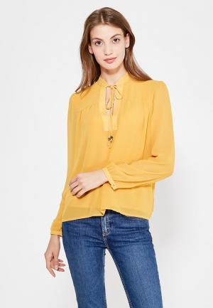 Блуза oodji. Цвет: желтый