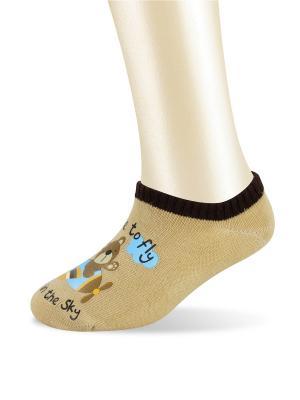 Носки Glamuriki. Цвет: бежевый