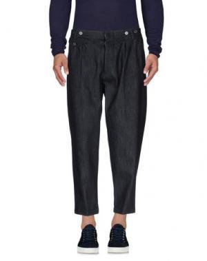 Джинсовые брюки-капри JOHN SHEEP. Цвет: синий