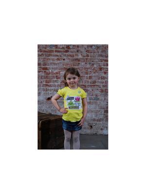 Джемпер с коротким рукавом ZEBRA KIDS. Цвет: желтый